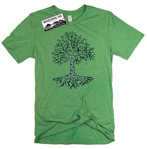 Mens Tree Shirt, Hiking Shirt, Hiking Gifts, Nature Shirt