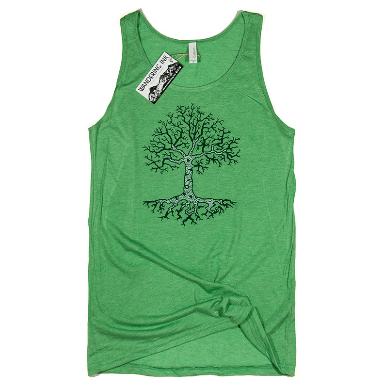 Mens Tree Tank Top, Mens Nature Tee, Graphic Tee