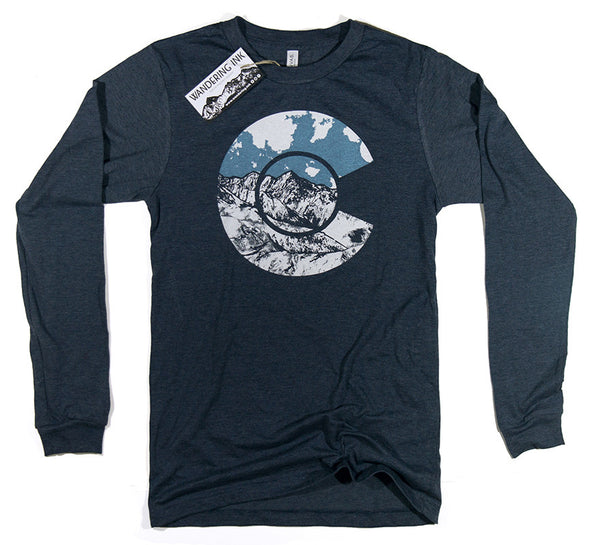 Colorado Long Sleeved Tee - Heather Navy