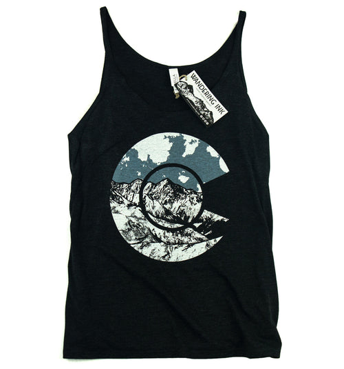 Colorado Slouchy Tank, Women's Shirts - Wandering Ink