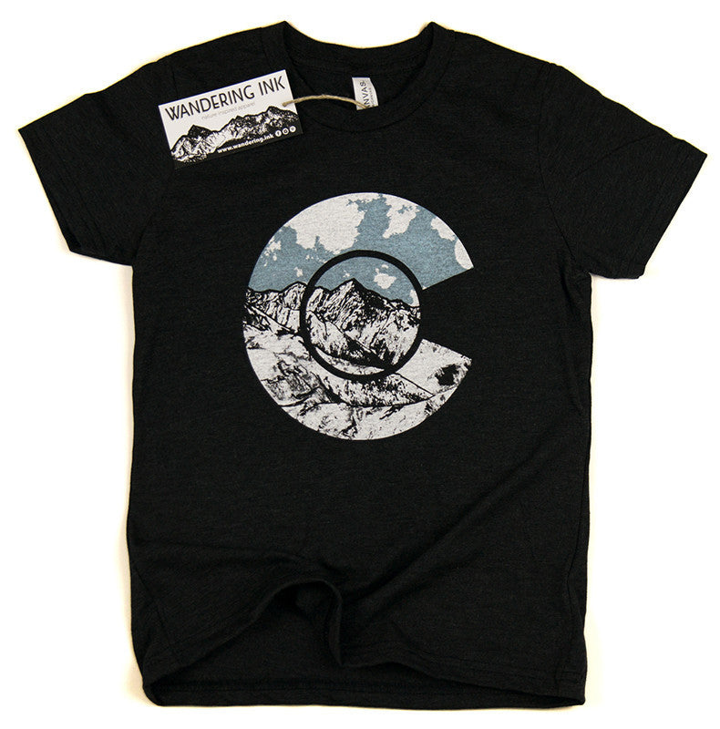 Youth Colorado Tee - Charcoal Black