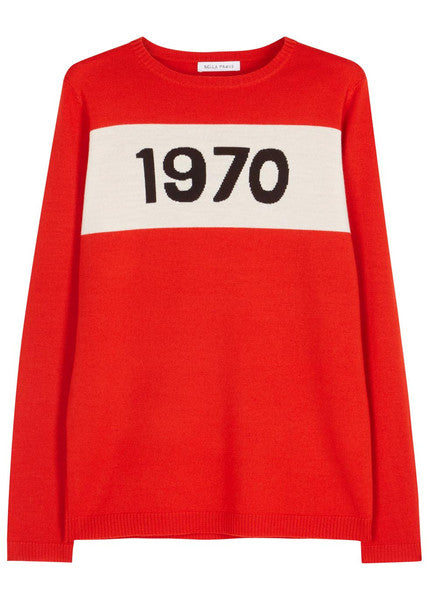 Bella Freud 1970 red wool jumper