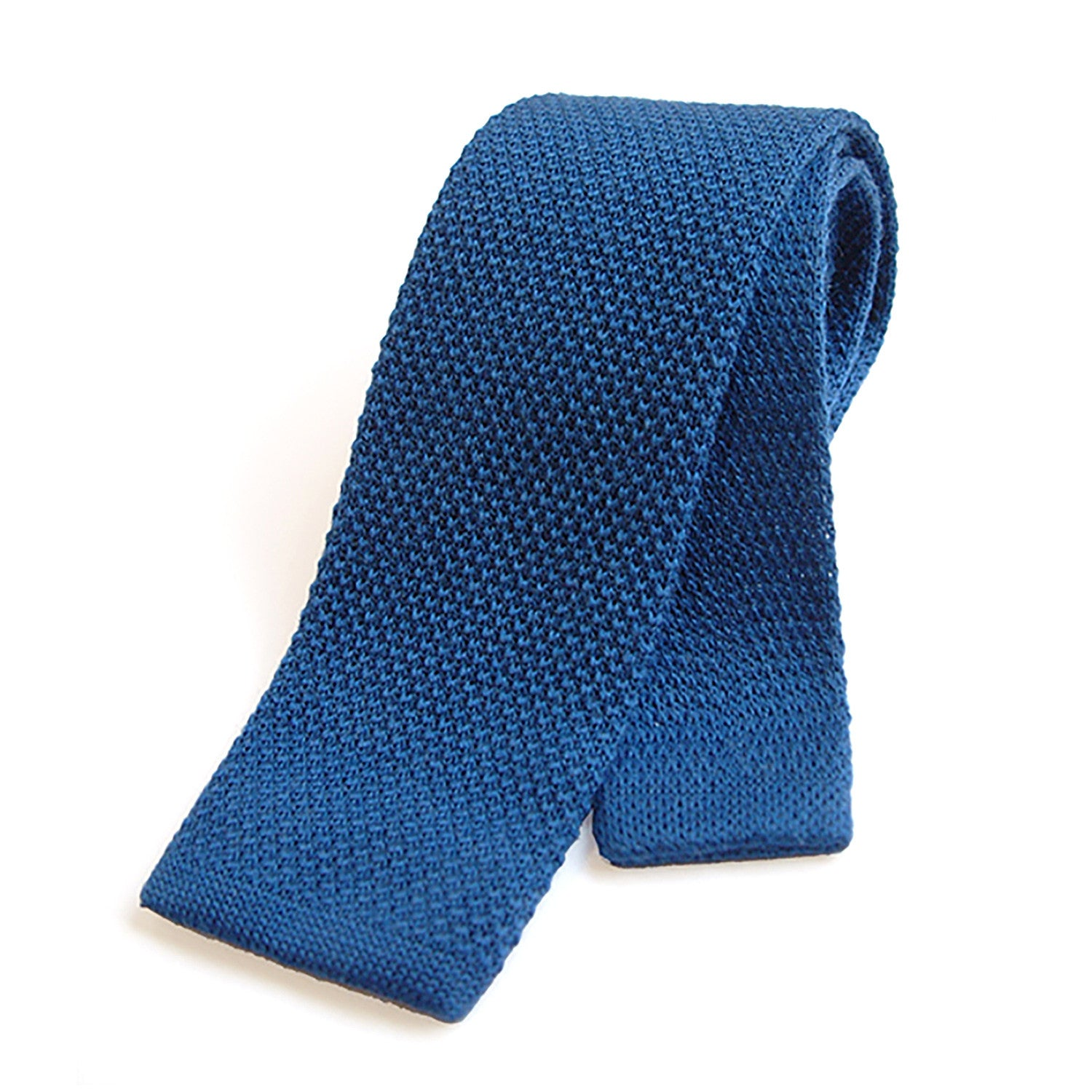 Tyler and Tyler Mens Plain Knitted Wool Tie Black