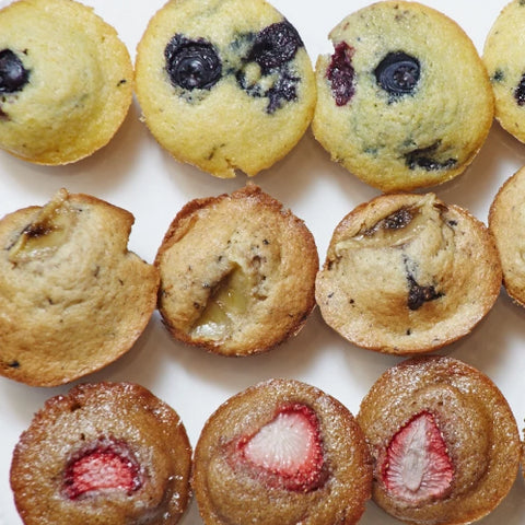 Chef's selection of mini muffins. Serves 8-10