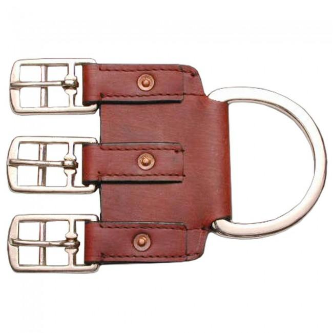 3-Buckle Leather Western Girth Converter