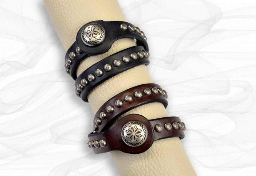 Southwestern Leather Wrap Bracelet