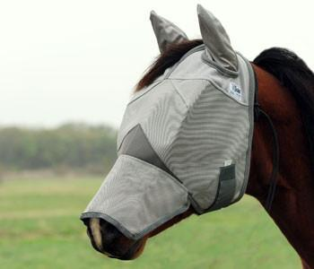 Cashel Crusader Fly Mask - Long Nose with Ears, Fly Protection - Warmblood Tack Store
