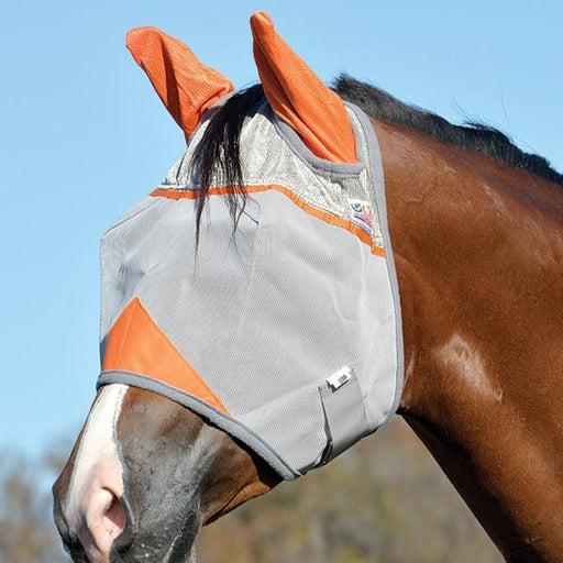 Cashel Crusader Orange Ears Fly Mask, Fly Protection - Warmblood Tack Store