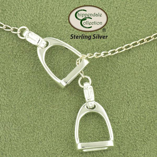 Double Stirrup Lariat Necklace, Jewelry - Warmblood Tack Store