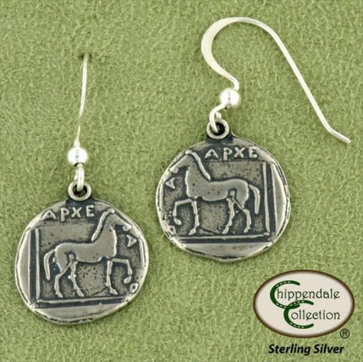 Greek Coin Horse Earrings, Jewelry - Warmblood Tack Store