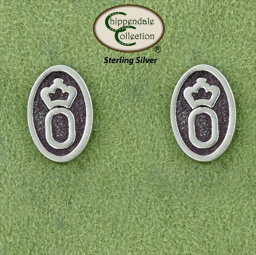 Oldenburg Warmblood Logo Earrings, Jewelry - Warmblood Tack Store