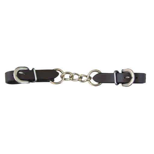 Leather Chain Curb Strap