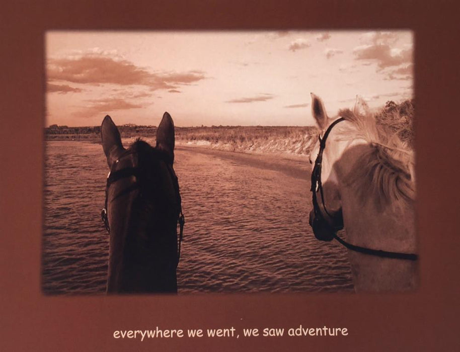 Sympathy Horse Greeting Card - Everywhere we went, we saw adventure, Greeting Card - Warmblood Tack Store