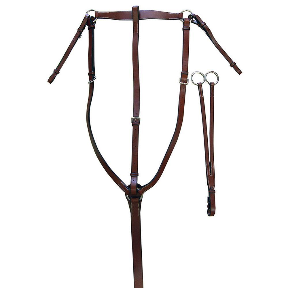 Exselle Elite Traditional Hunt Breastplate - with Standing and Running Martingale, Martingale/Breastplate - Warmblood Tack Store