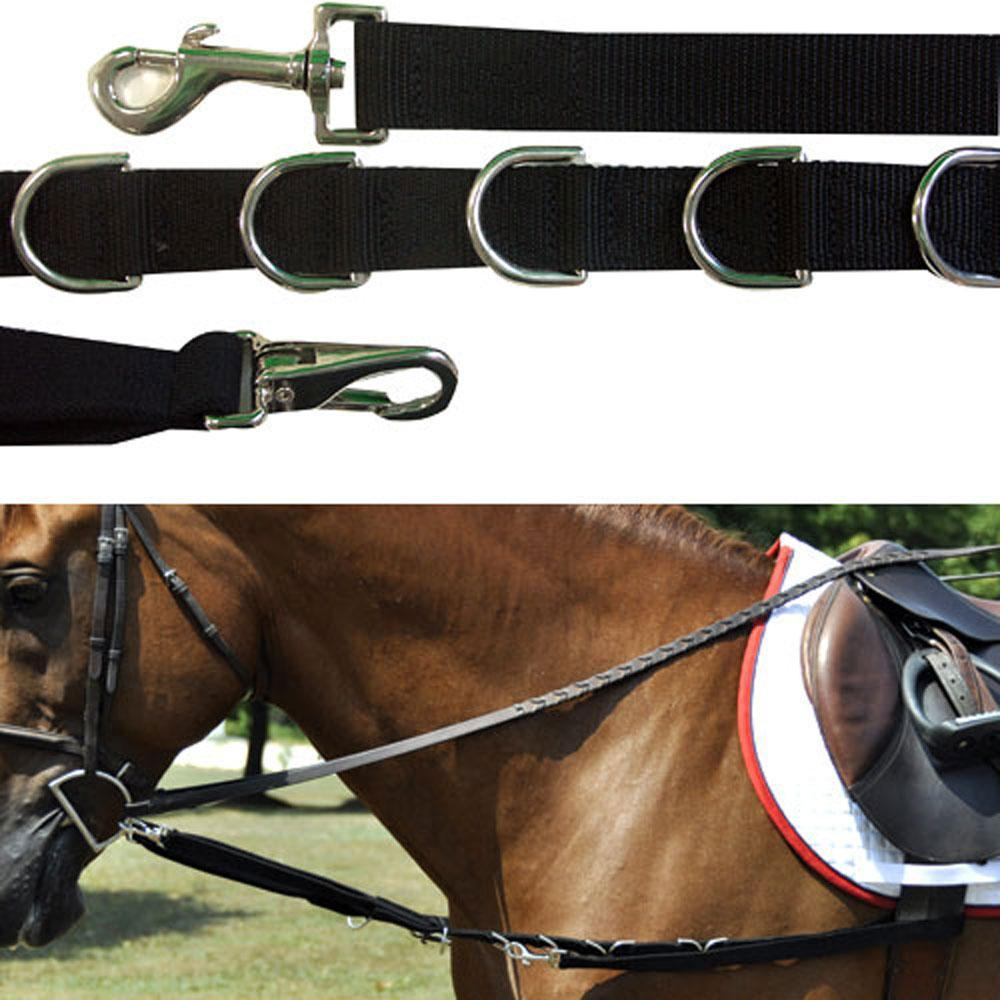 Nylon and Elastic Side Reins with Dee Rings