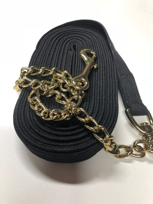 "30' Cotton Lunge Line with 30"" Brass Plated Chain"