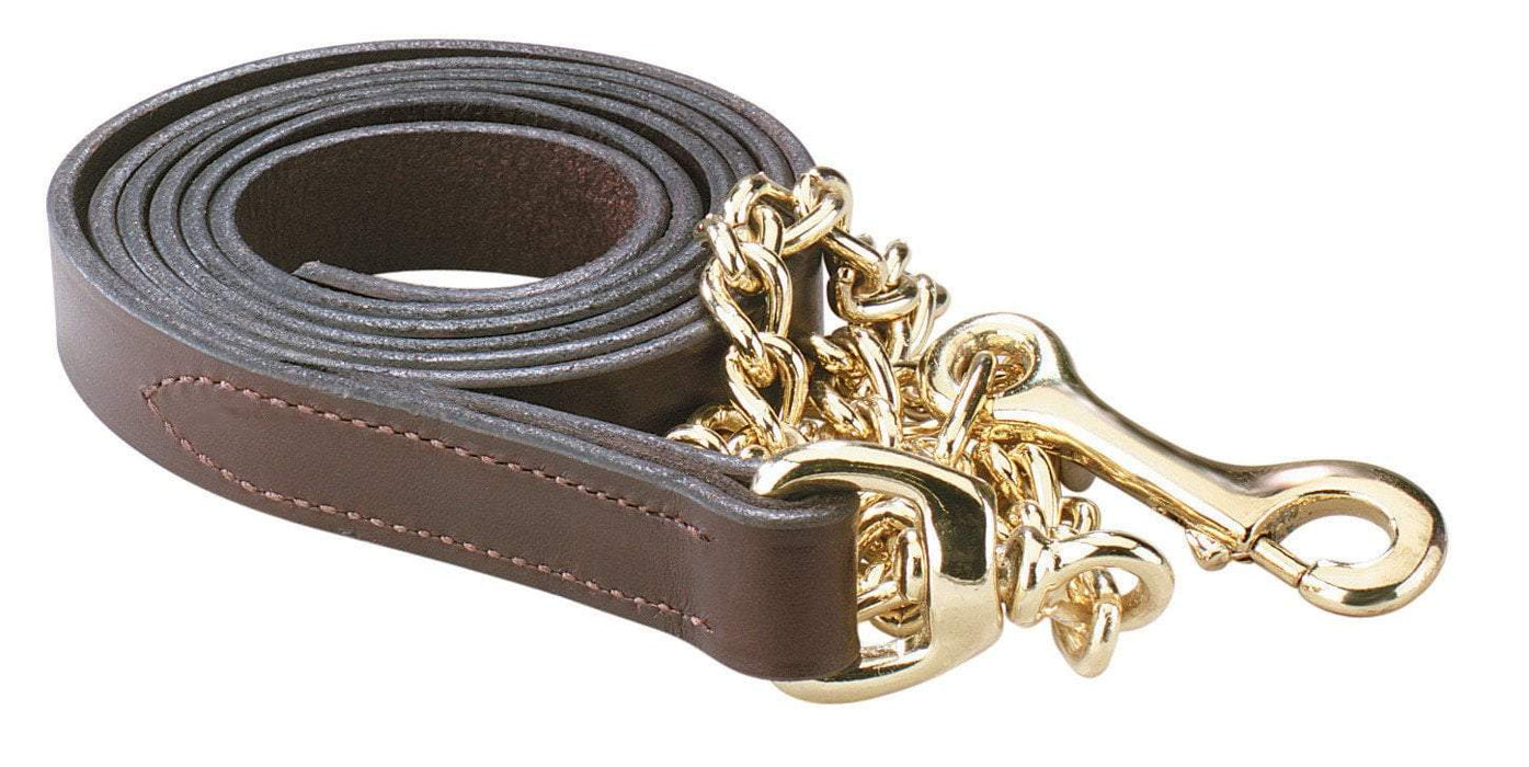 "Leather Lead w/30"" Chain, Lead - Warmblood Tack Store"