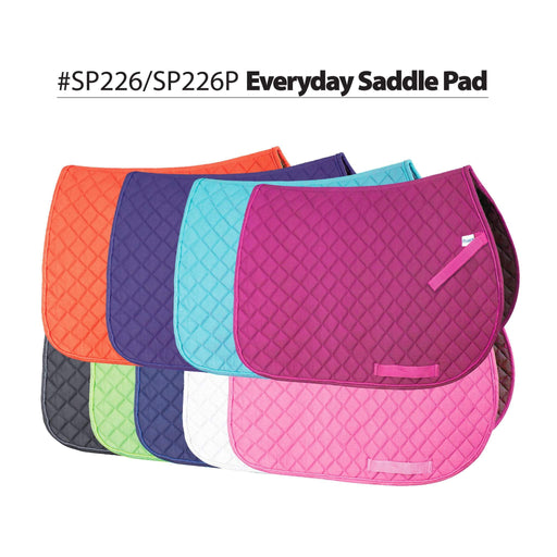 Colorful Everyday All Purpose Saddle Pad, Saddle Pad - Warmblood Tack Store