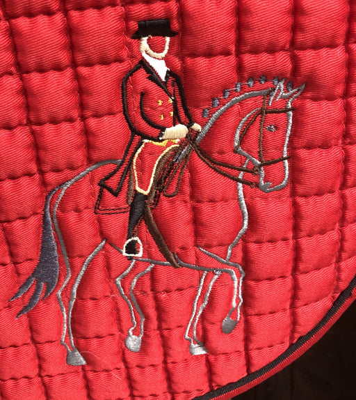 "Cotton Quilted ""Passage"" Logo Dressage Pad - Extra Long"