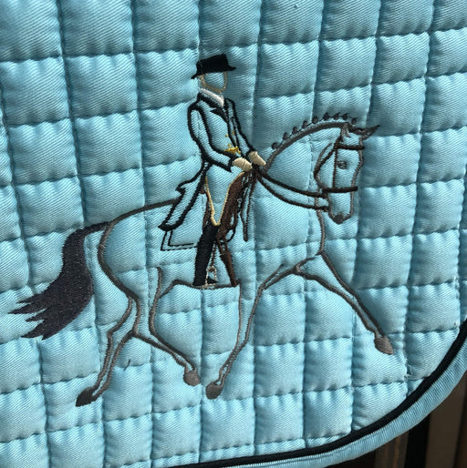 "Cotton Quilted ""Shoulder In"" Logo Dressage Pad"
