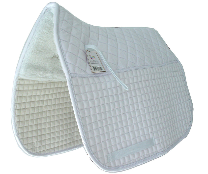 Customizable Double Back Padded Dressage Pad - Extra Long