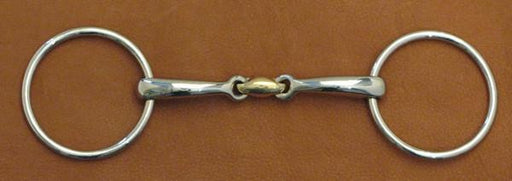 Loose Ring Snaffle Bit w/Curved Mouth & Wafer, Bit - Warmblood Tack Store
