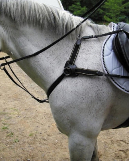 5-Point Leather & Elastic Breastplate, Breastplate - Warmblood Tack Store