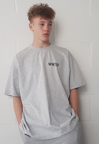 WWYF Logo T-shirt Light Grey