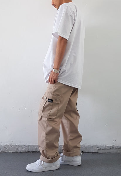 Baggy Cargo Trousers Sand