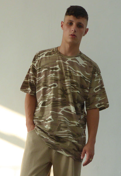 Ultra Baggy T-shirt Camo Sand