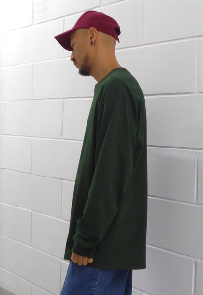 Ultra Baggy T-Shirt L/S Forest Green