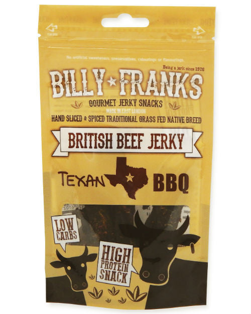 Billy Franks Beef Jerky - Texan BBQ (40g)