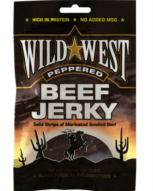 Wild West Beef Jerky - Peppered (50g)