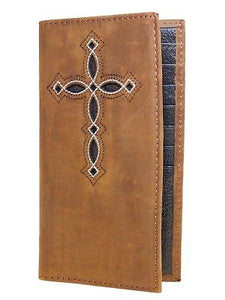 Decorative Cross 11 Credit Card Brown Ariat Rodeo Wallets front