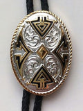 Aztec Design Silver/Gold Bolo Neckties close
