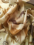 Southwest #8 Tan Cave Cowboy Wild Rags ruffle