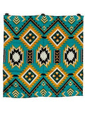 Southwest #1 Teal/Gold 100% Silk Wild Rags full