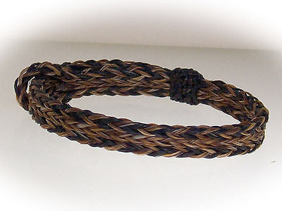 Braided Horse Hair Bracelet One Size Fits All Earth Tones front