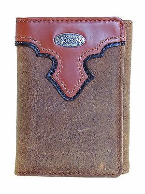 Nocona Tri-fold Mens Western Wallet/Copper Grizzly front