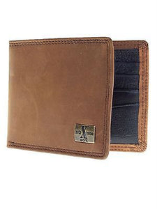 Mens Western Bi-Fold Nocona Wallet/Distressed/HDX/Brown front
