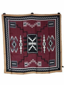 XL 42 Inch Aztec Maroon/Black/Gold Silk Wild Rags full