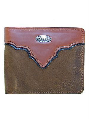 Nocona Bi-fold Mens Western Wallet/Copper Grizzly front