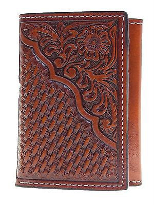 Nocona Tri fold Wallets Pro Series Collection Tooled front