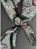Paisley Wild Rags Mint Madness 100% Silk by Wyoming Traders tie