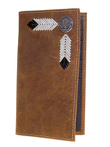 Buffalo Nickel Rodeo 11 Credit Card Brown Nocona Western Wallets front