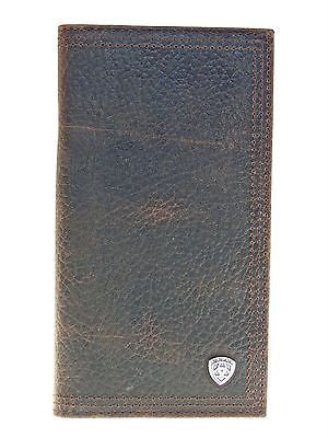Ariat Mens Western Rodeo Wallet/11Credit Card/Performance Work/Dark Br Rowdy front