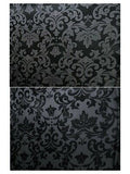 Silk/Poly Blend Jacquard Wild Rag Black and Silver 36 x 36 inch detail
