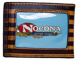 USA Flag VINTAGE LOOK Bottle Opener Bifold Money Clip Nocona Western Wallet back