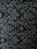 Silk/Poly Blend Jacquard Wild Rag Black and Silver 36 x 36 inch back