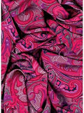 Paisley Fruit Punch Wyoming Traders Silk Wild Rags ruffled
